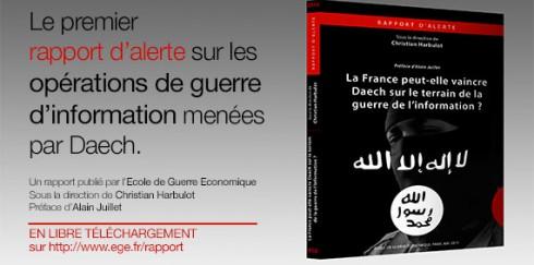 Publication EGE – Le rapport d'alerte «La France peut-elle vaincre Daech sur le terrain de la guerre de l'information?»